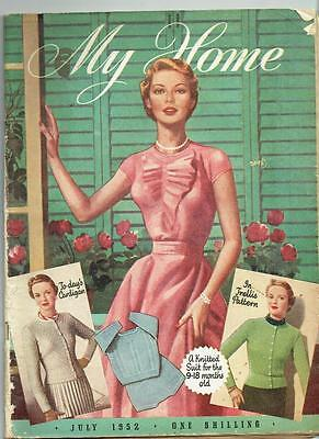Vintage My Home Magazine July 1952 - inc knitting patterns - see pictures
