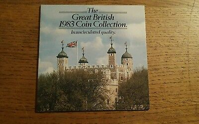 Royal Mint - Great British 1983 Unc Coin Collection Inc New £1 Coin