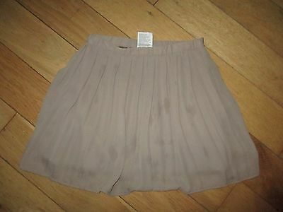 I DO Beige Pleated Fully Gold  Lined  Skirt Age 6 - 7 Years Worn Once   L@@K