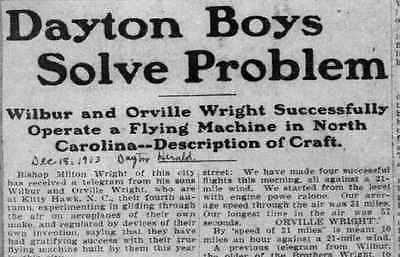 Wright Brothers Newspapers