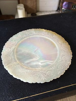 Engraved Mother Of Pearl Plate