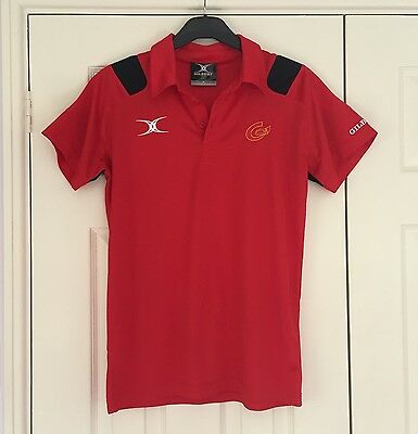 Newport Gwent Dragons Gilbert Polo Red Size XS