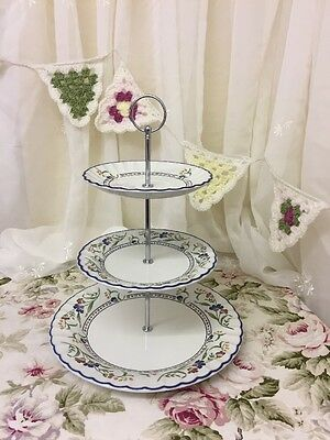 3 Tier Cake Stand / Plate Staffordshire,Hampton Court, Christmas, Party, Wedding