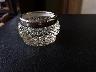 Sterling Silver & Crystal Condiment Pot