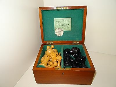 Antique Large Jaques Staunton  Chess Set
