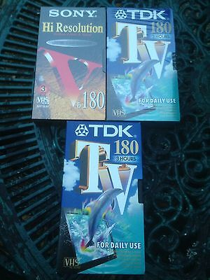 Sony TDK Blank Video Tapes X3