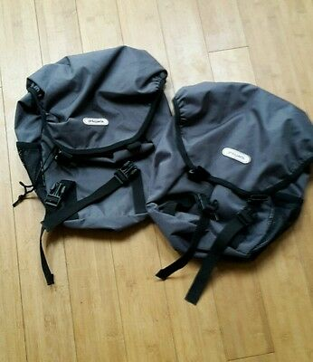 2 x phil and teds grey panniers