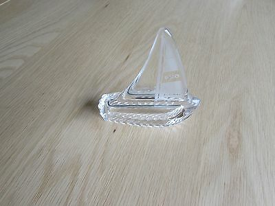 Galway Glass Crystal Yacht marked 624, perfect condition
