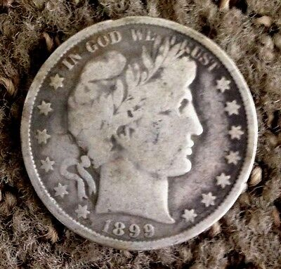 """*key Date* 1899 Barber Half Dollar -Circulated Uncleaned """"you Grade It"""""""