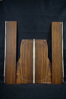Mexican Cocobolo AcousticGuitar Back & sides Tonewood Luthier