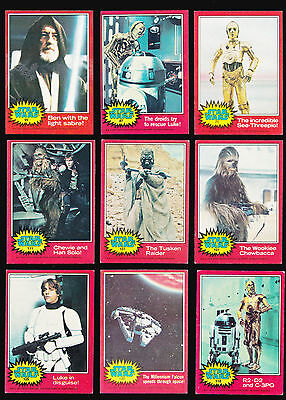 Star Wars - A Complete Vintage Topps 1977 Red / 2Nd Series In Very Good Cond