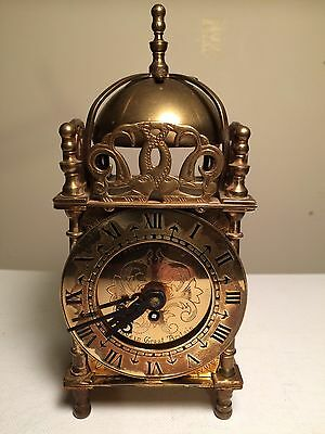 Smiths Lantern 8 Day Mechanical Vintage Clock