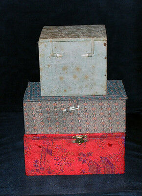 3 Small Padded Chinese Artifact Boxes