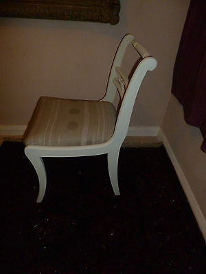 Vintage Upcycled Grey Painted Sabre Leg Desk Dining Chair Today Interiors Seat