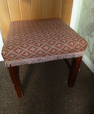 Vintage Mahogany Chippendale Style Stool Coffee Table Laura Ashley Albert Seat
