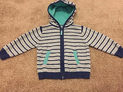 Marks & Spencer Autograph Baby Boy Navy Stripe Hooded Cardigan Top 6-9 Months