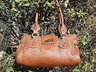 Brown Mottled Real Leather Shoulder Bag.hardly Used.