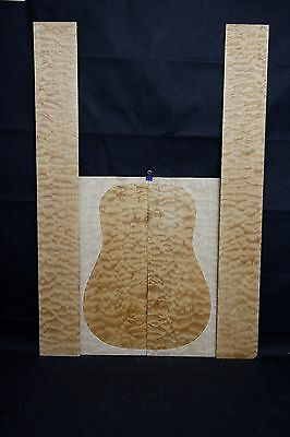 Quilted Rock Maple AcousticGuitar Back & sides Tonewood Luthier