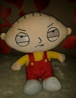"""OFFICIAL 10"""" FAMILY GUY SOFT TOY PLUSH STEWIE *new without tags*"""