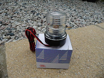 Boat Navigation all round clear anchor light.12volt, upto 12m length