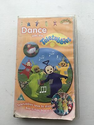 Teletubbies VHS video cassette Dance with the teletubbies CBeebies
