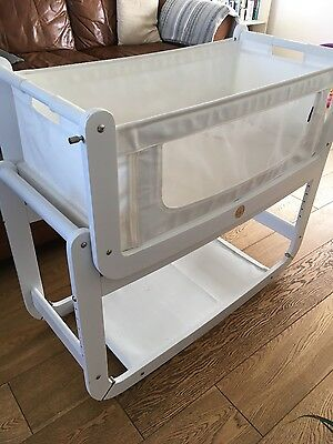 white snuzpod with mattress new born baby moses basket co sleeping