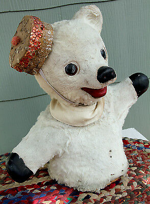 "Antique German Bear 16"" Tall - Very Old - Used In Toy Store Display Window"
