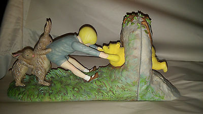 Disney Classic Winnie The Pooh Bookends--Charpente Stuck At Rabbits House