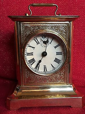 Antique 2 Tune Musical German Mantel Shelf Cottage Alarm/Table Clock Running
