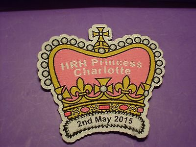HRH Princess Charlotte Badge/ patch girl guiding