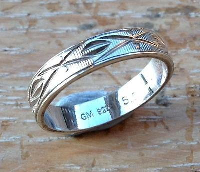 Sterling silver Gemporia ring - size K 1/2, 2 grams - Italy - in box