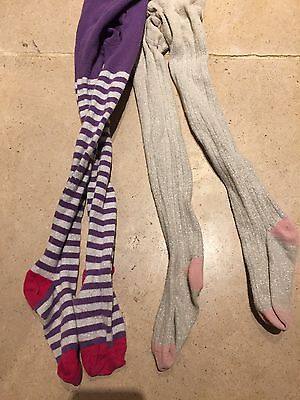 Two pairs of mini Boden tights Age 5-6 years