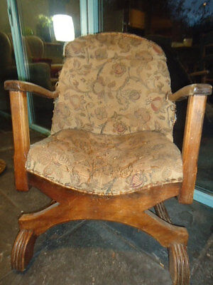 Early C20th Art Deco child's armchair for upholstery project