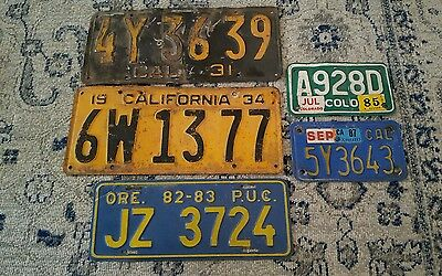 vintage license plate lot california automobile motorcycle
