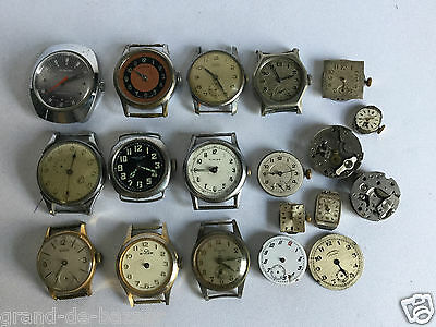 Job alot of  Antique Vintage Mechanical watches For Spares