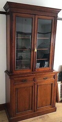 ANTIQUE VICTORIAN MAHOGONY DISPLAY CABINET SIDEBOARD CUPBOARD Superb Quality