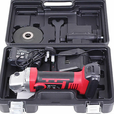 18V Cordless 115Mm 800W Home Diy Power Angle Grinder Grinding Cutting Tool Kit