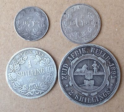 Old South Africa Coins Boer All Silver..