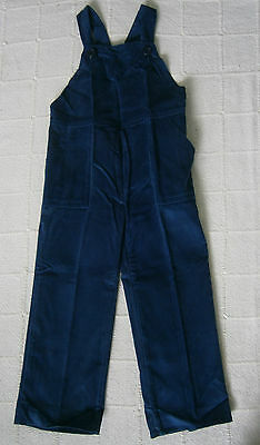 Vintage Needlecord Dungarees - Age 5 Approx - Petrol Blue - French  - New
