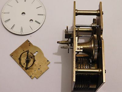 Antique English Fusee Carriage Clock Movement By Charles Frodsham