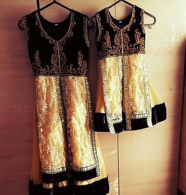 Black and gold kids anarkali £25 EACH