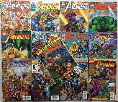 Avengers complete 2nd series #1 - #13 (1996 Marvel) FN to NM condition.