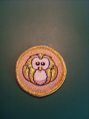 Golden Owl special occasion Badge / Patch suitable for girl guiding
