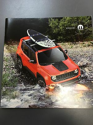 2017 JEEP RENEGADE ACCESSORIES 16-page Original Sales Brochure