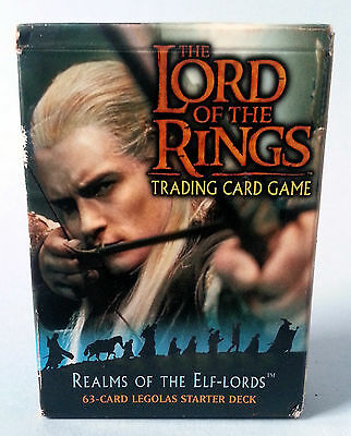 Lord Of The Rings Realms Of The Elf Lords Trading Card Game 63 Legolas Card Deck
