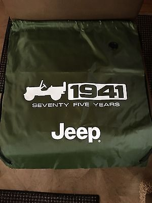 NEW Authentic JEEP Green DRAWSTRING BAG 1941 75-YEARS