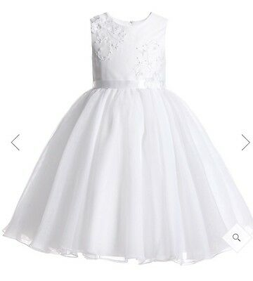 Designer Sarah Louise Bridesmaid Dress. Approx Age 5. Worn For 3 Hours