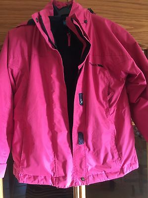 Trespass Pink Removable Fleece Lined Coat 6 Years