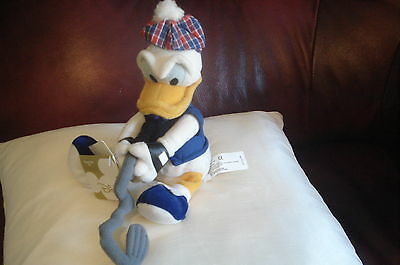 """Donald Golfer 9"""" Beanie Disney Store Collectable toy tags Xmas Birthday Gift New"""
