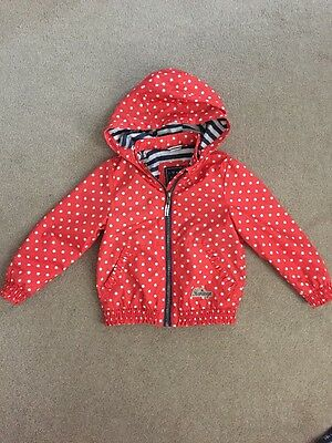 Girls NEXT Rain Jacket/Coat Red Spotty Size 3-4 Years Immaculate Condition!